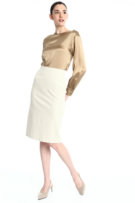 Cotton gabardine skirt Intrend
