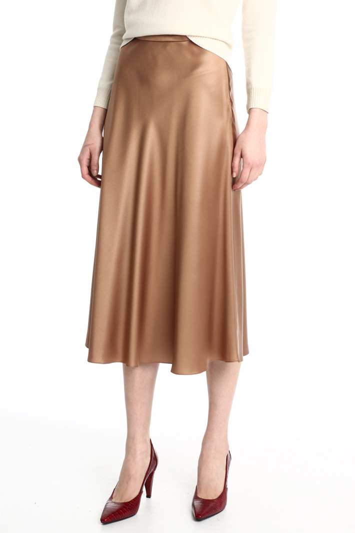 Fluid satin skirt Intrend