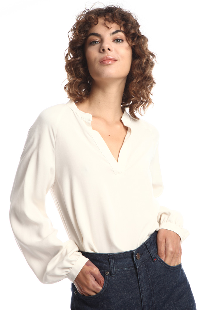 Band collar blouse Intrend