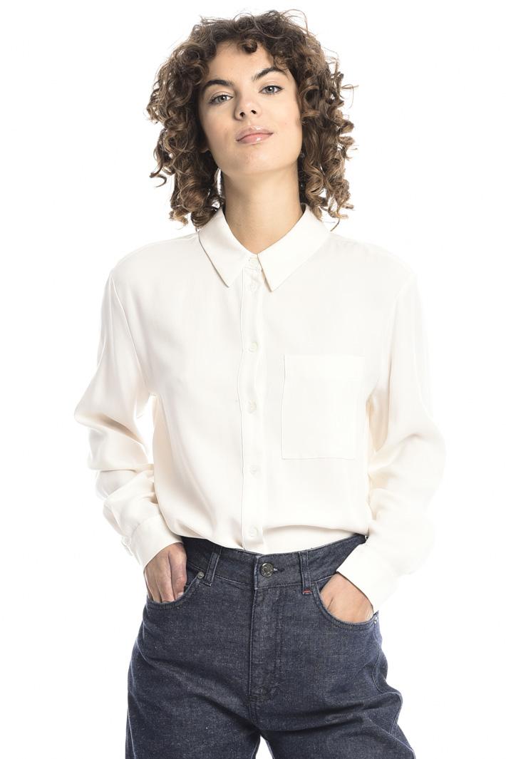 Fluid twill shirt Intrend