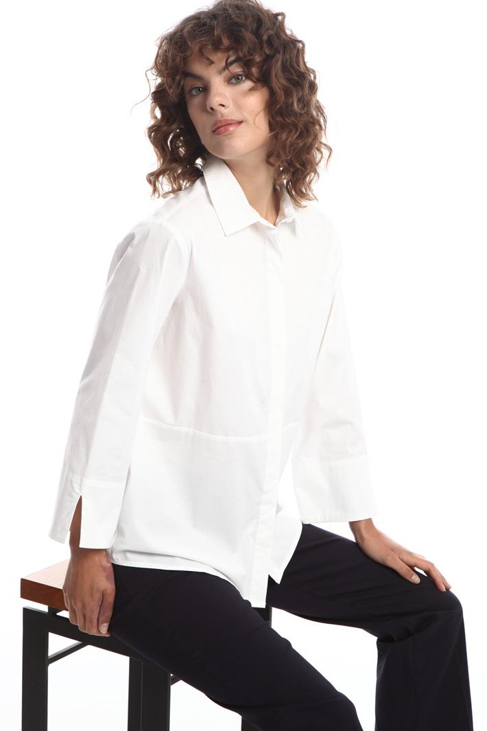 Loose-fit poplin shirt   Intrend