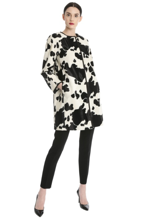 Calf-hair effect duster coat Intrend