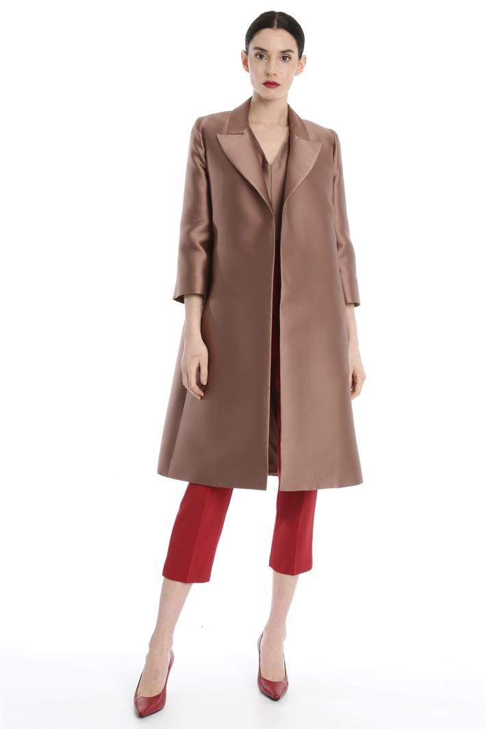 Duchess silk duster coat Intrend