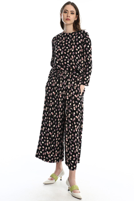 Printed wide-leg trousers Intrend