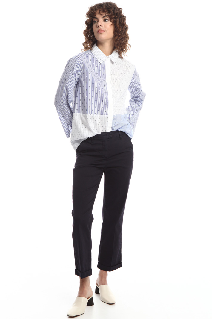 Turn-up crop trousers  Intrend