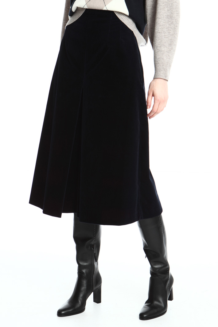 Corduroy divided skirt Intrend