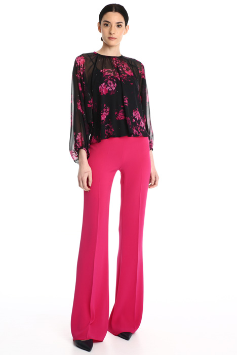 Wide-leg cady trousers Intrend