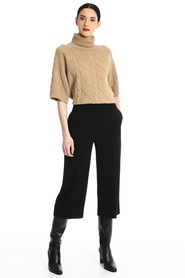 Crop cady trousers Intrend
