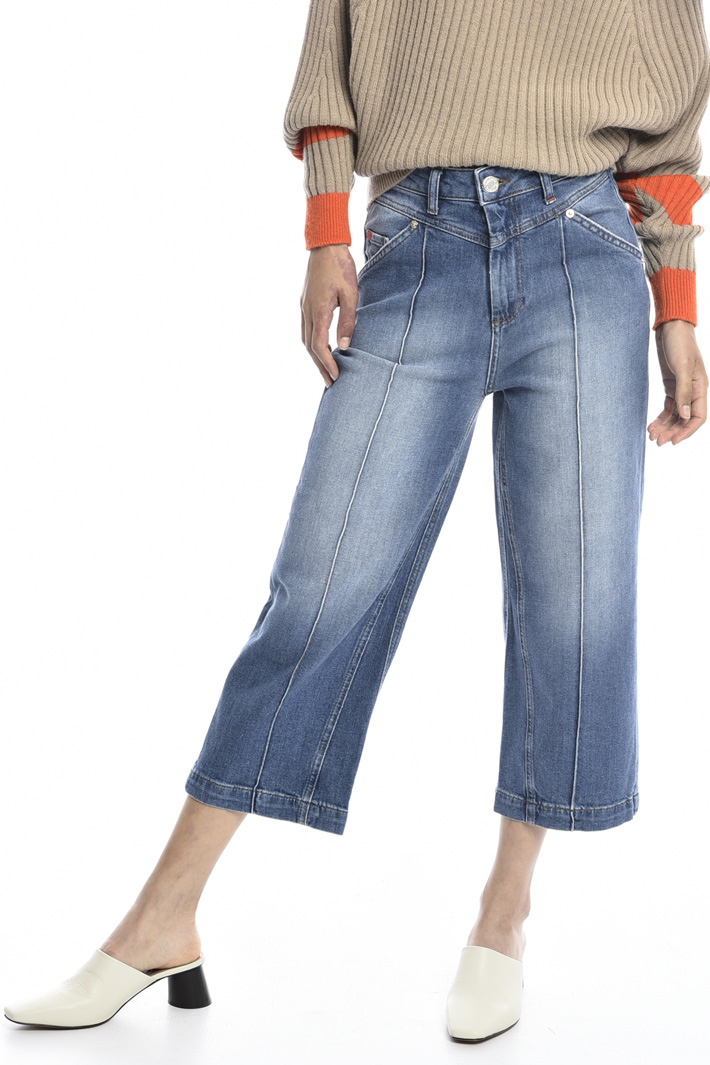 Wide-leg cropped jeans  Intrend