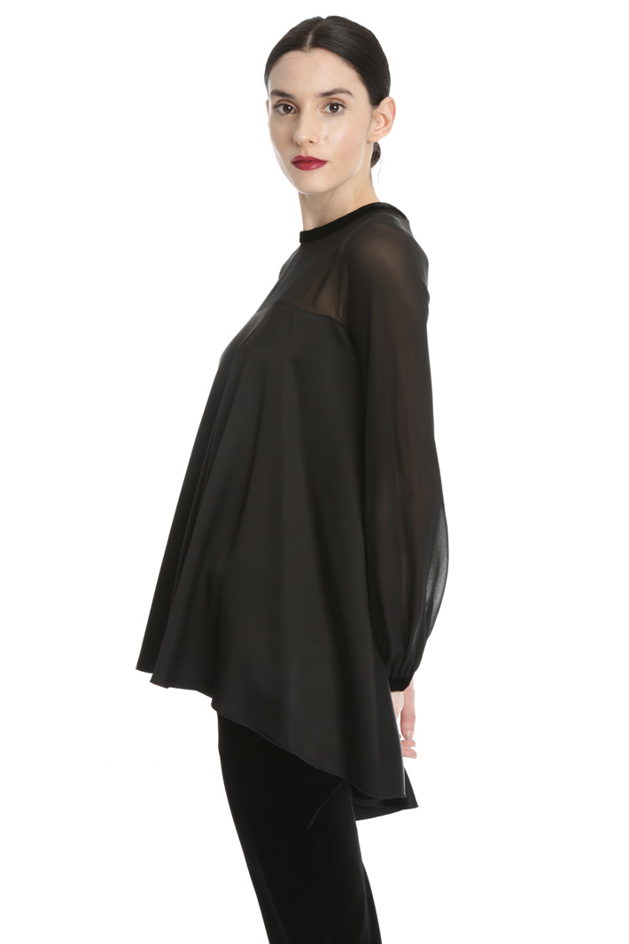 Satin and georgette blouse Intrend