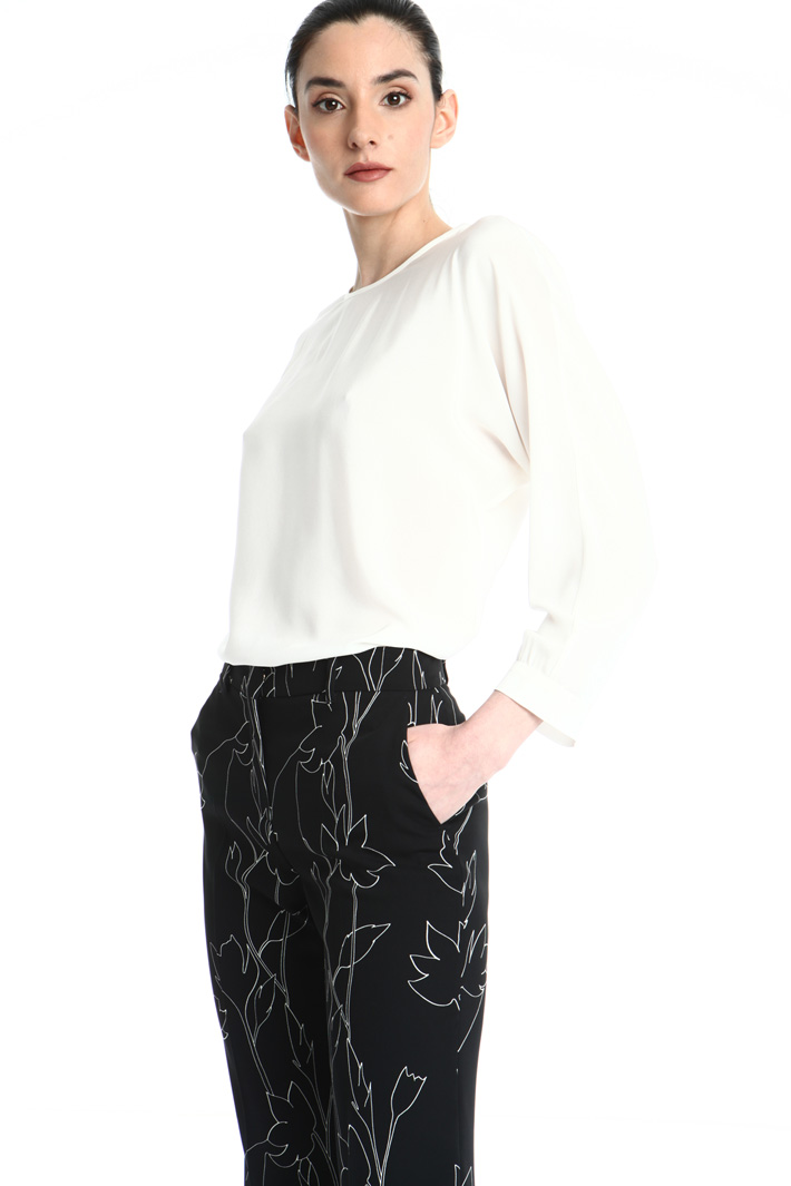Silk crepe-de-chine blouse Intrend