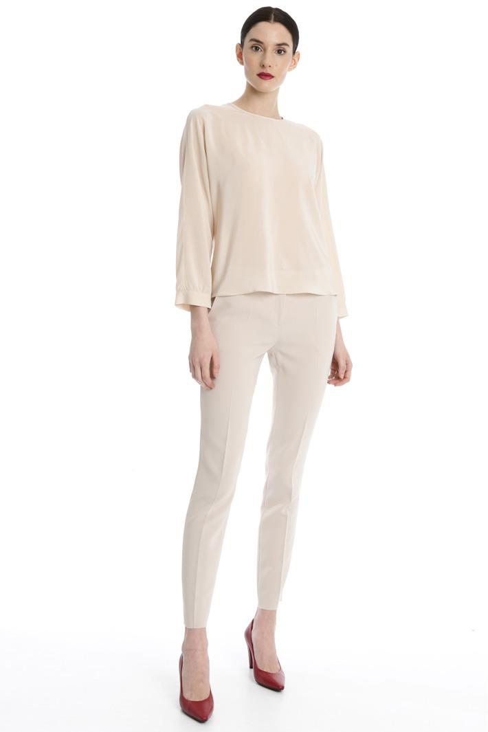 Silk crepe-de-chine blouse Intrend