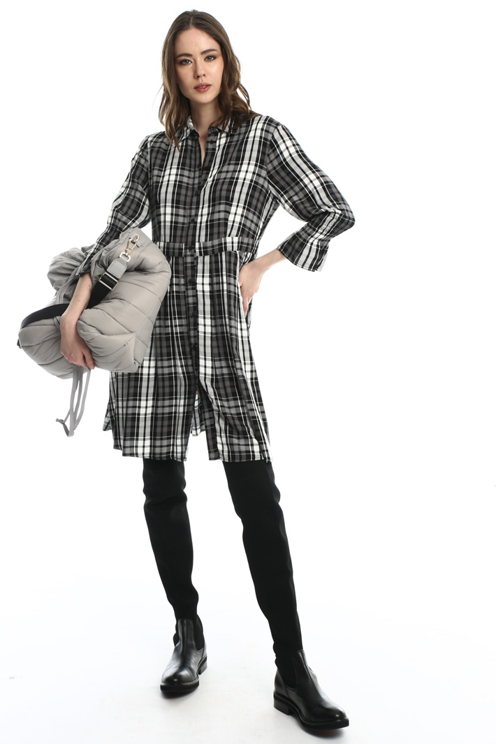 Check flannel shirt dress  Intrend