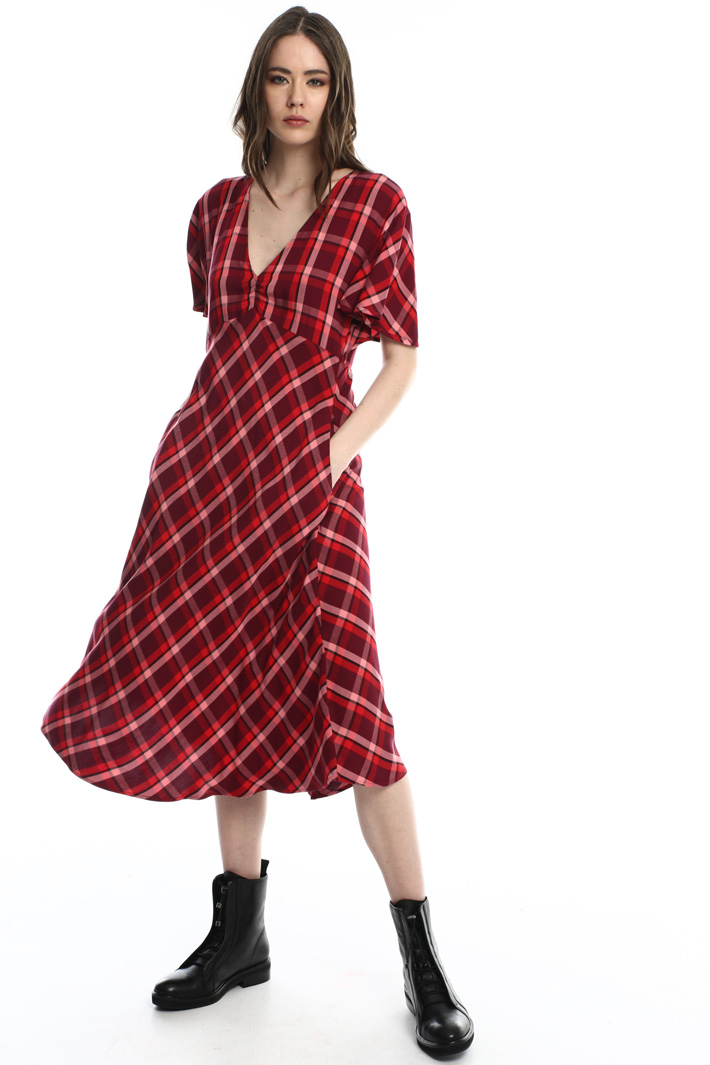 Yarn dyed flannel dress Intrend