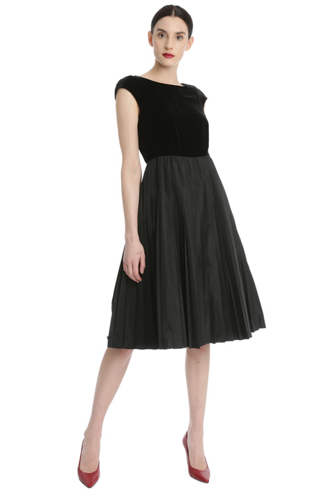 Velvet and taffeta dress Intrend