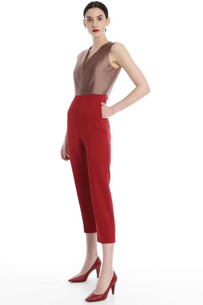 Cady and silk jumpsuit Intrend