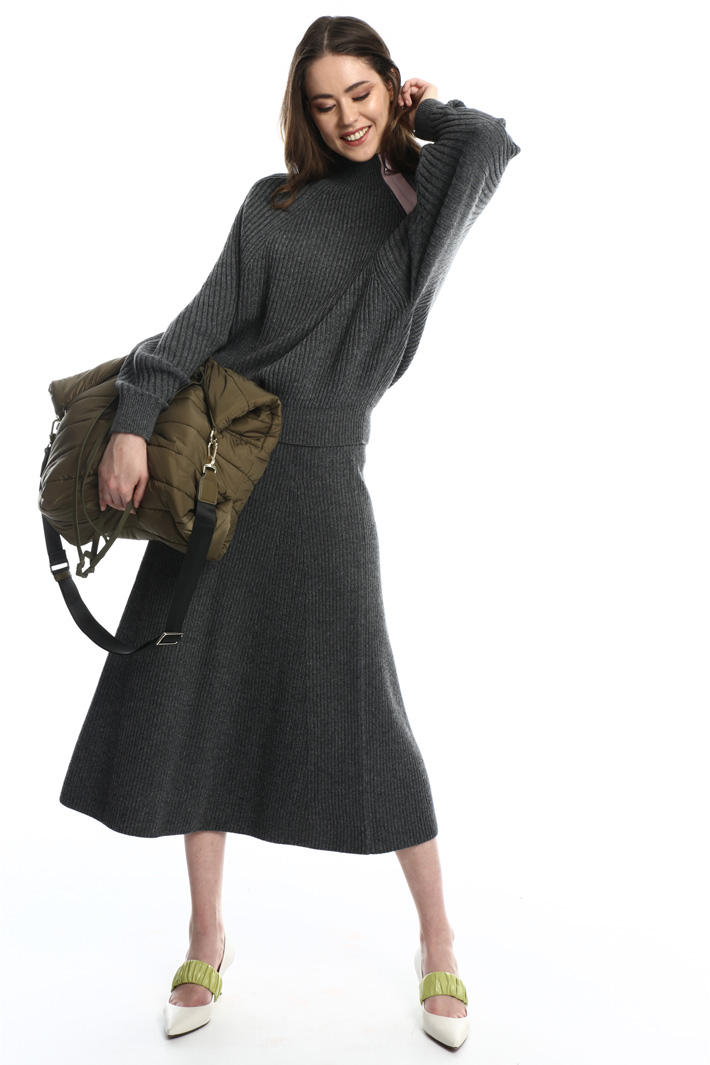 Knit A-line skirt  Intrend