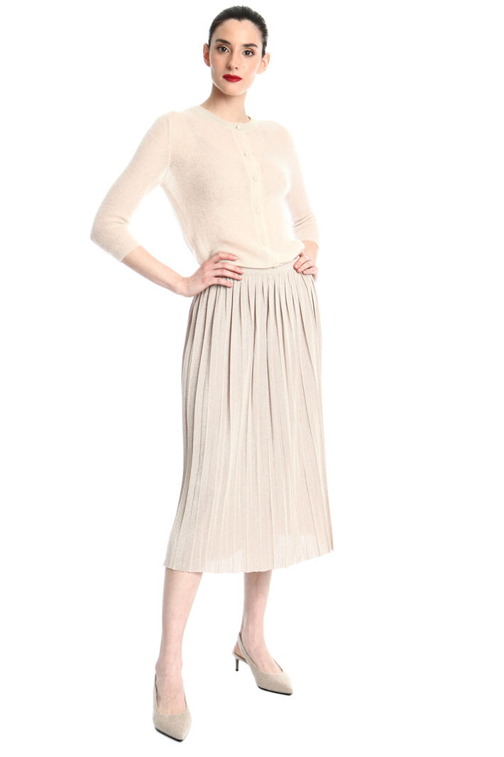 Pleated viscose skirt Intrend