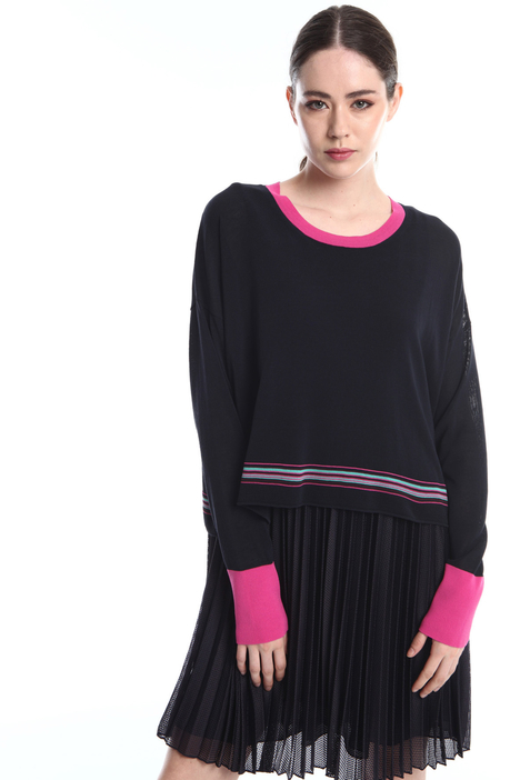 2-in-1 dress and sweater  Intrend