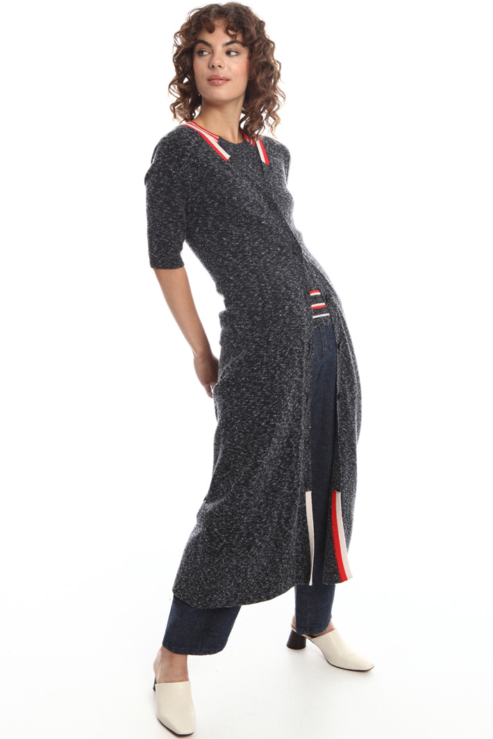 Knitted maxi shirt dress  Intrend