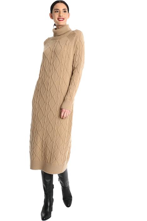 Long knit cashmere dress Intrend