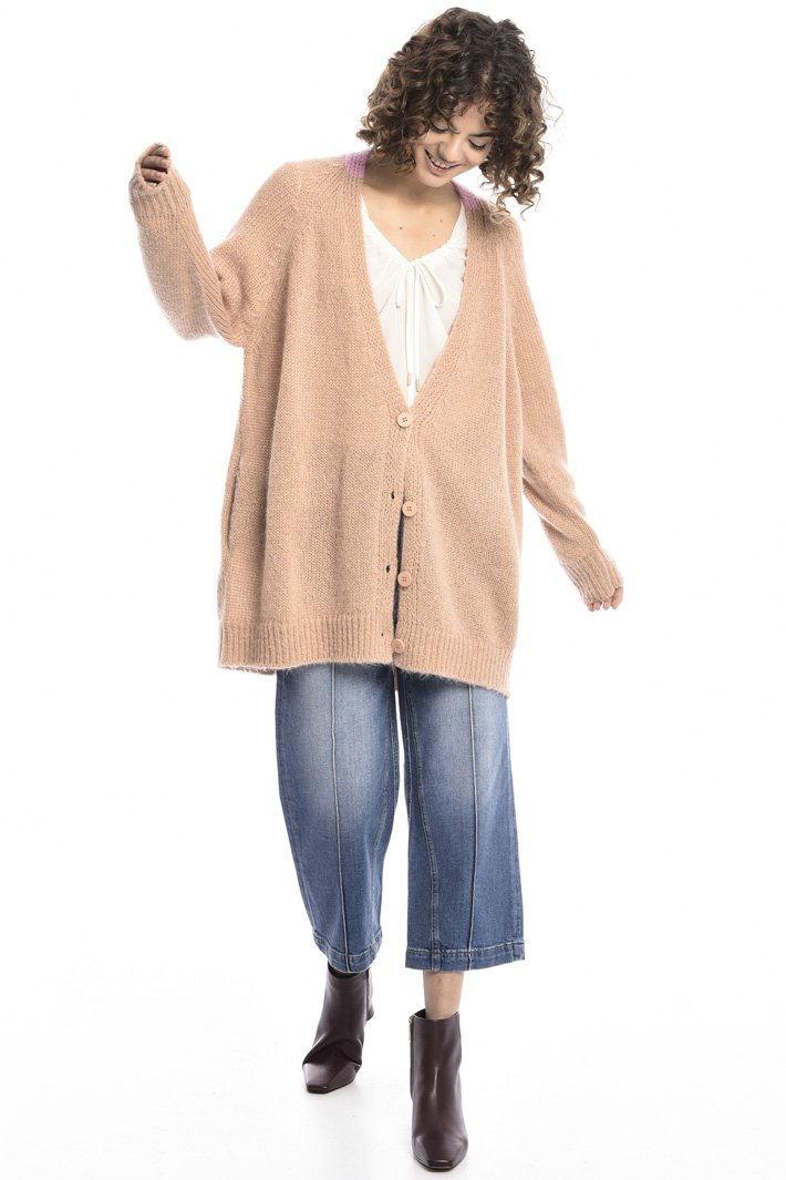 Open front mohair cardigan Intrend