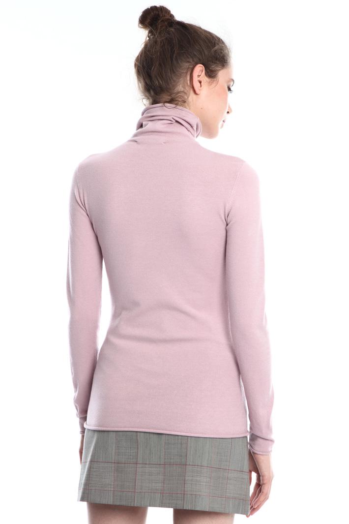 High-neck viscose sweater  Intrend