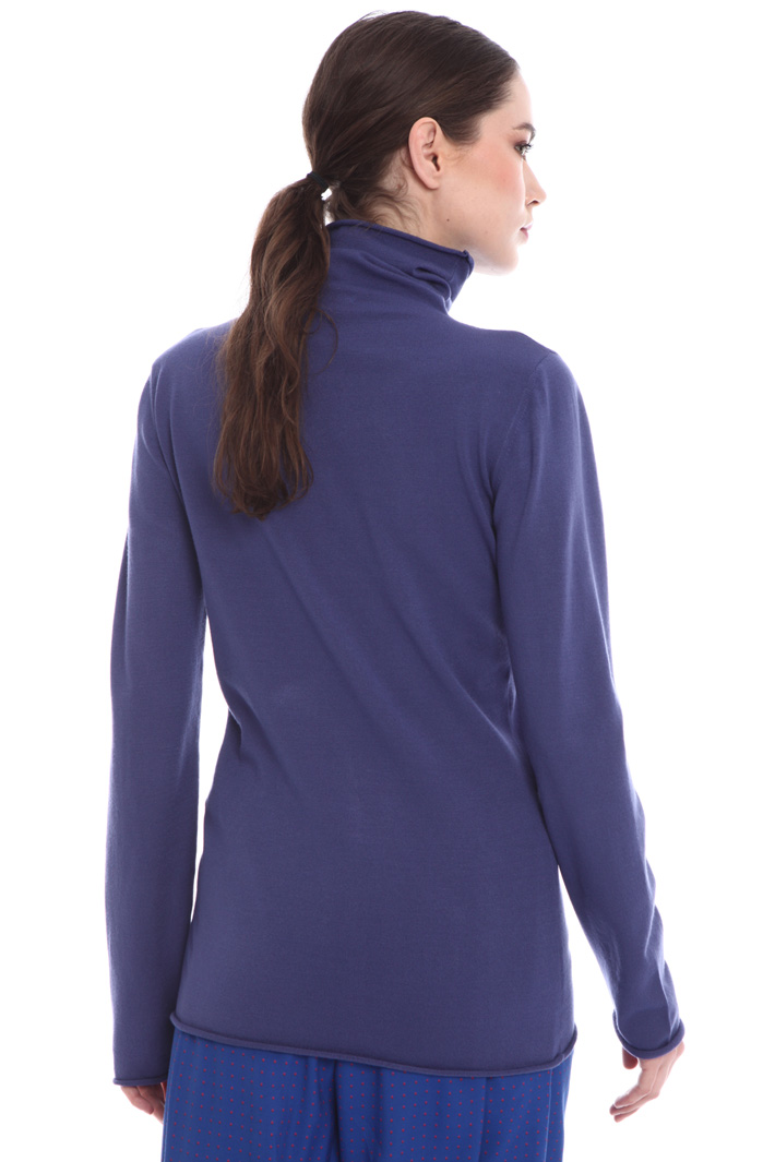 High-neck viscose sweater  Intrend