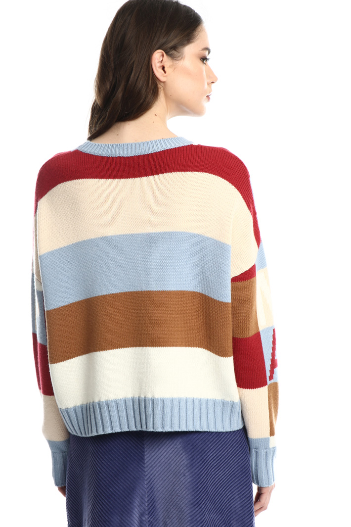 Jumper with colored lettering Intrend