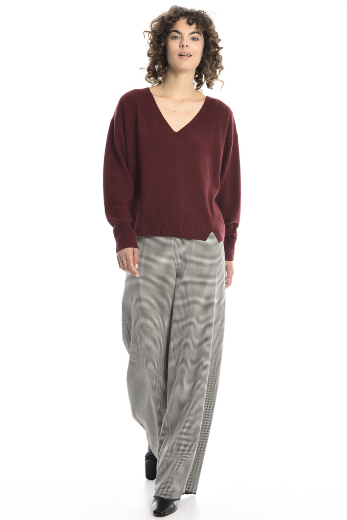 V-neck cashmere blend sweater Intrend