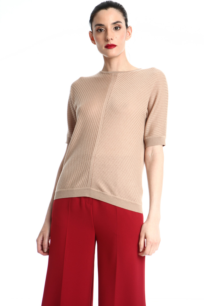 Silk short sleeve sweater Intrend