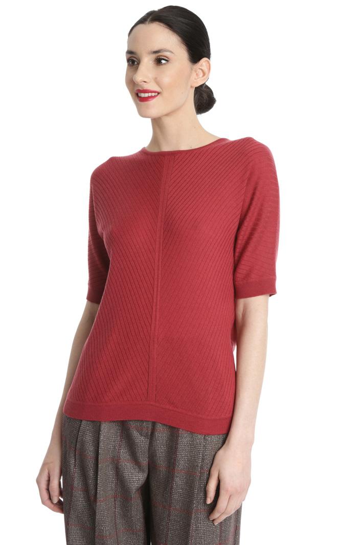 Silk short sleeve sweater Intrend