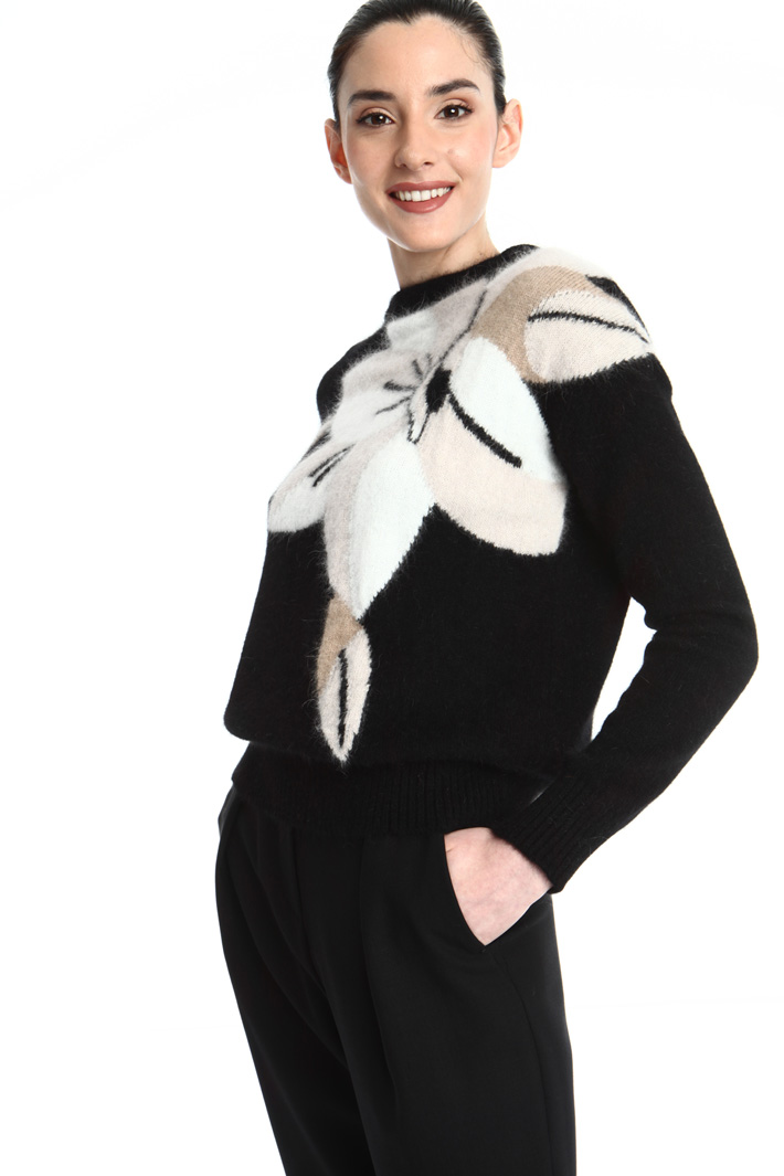 Angora and wool sweater Intrend