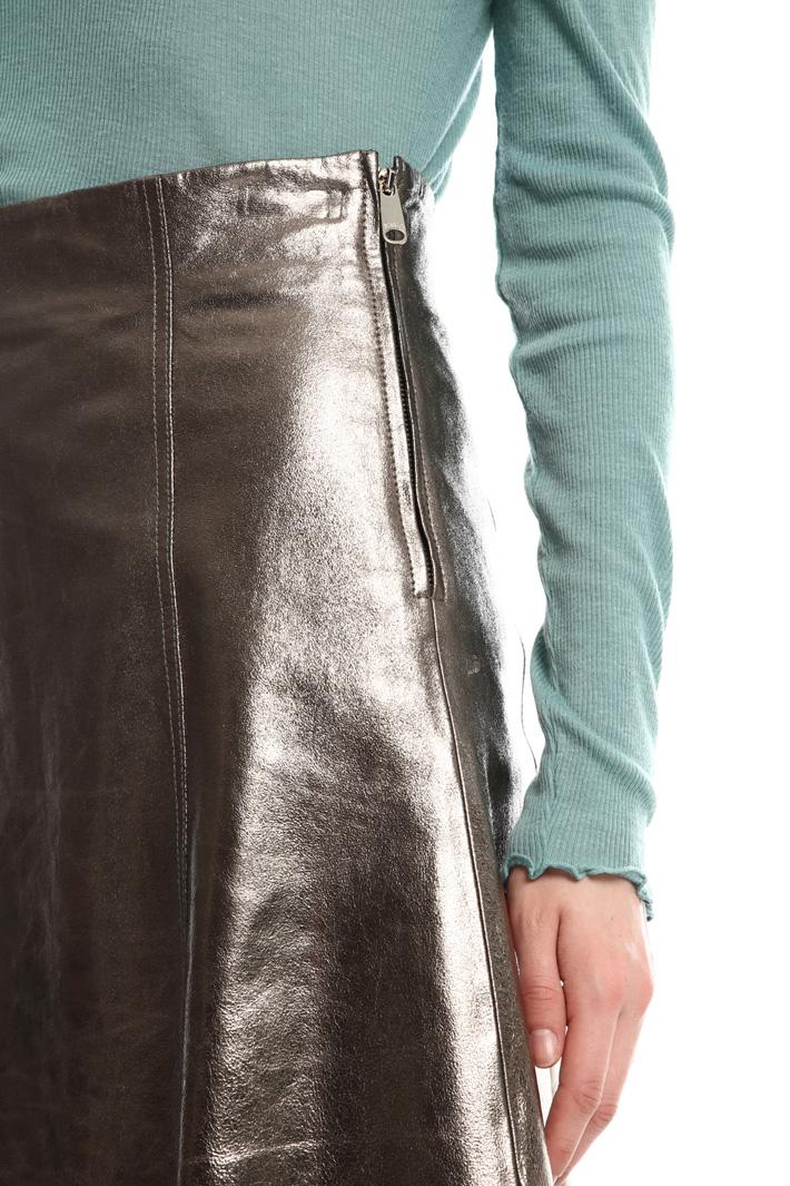 Mini-skirt in laminated nappa  Intrend