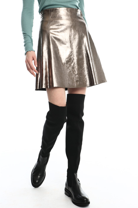 Mini-skirt in laminated nappa  Intrend