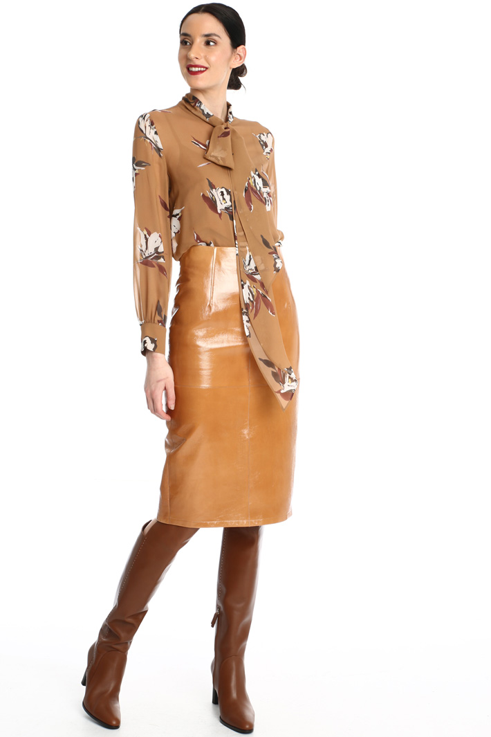 Leather pencil skirt Intrend