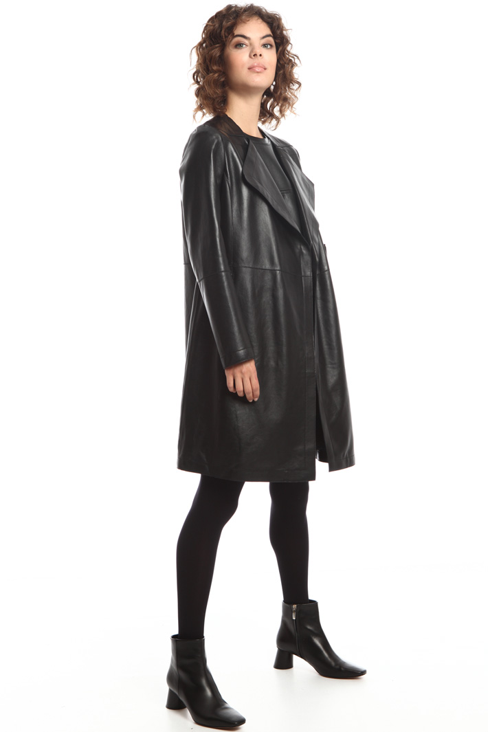 Long leather coat  Intrend