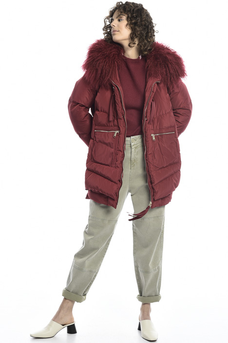 Down jacket with fur trim  Intrend