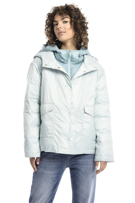 Double hood puffer jacket Intrend