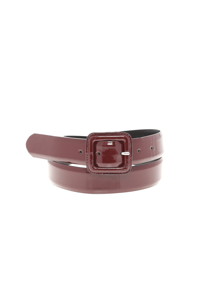 Varnished effect belt Intrend