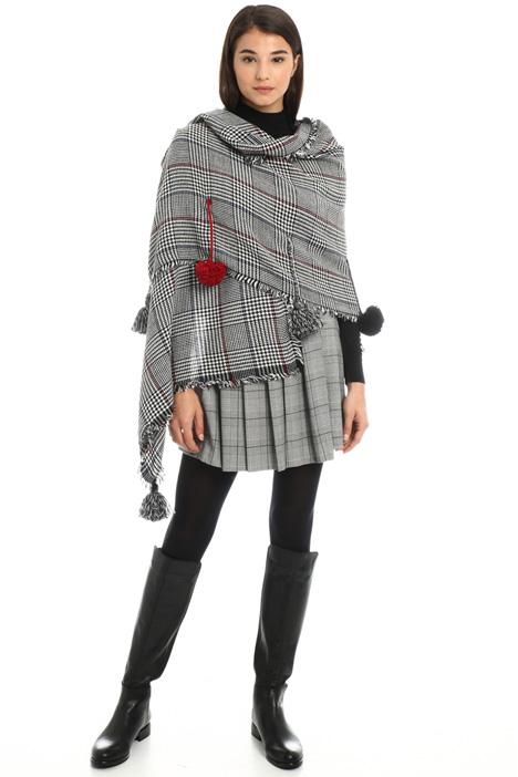 Sciarpa in lana con pom pon Intrend