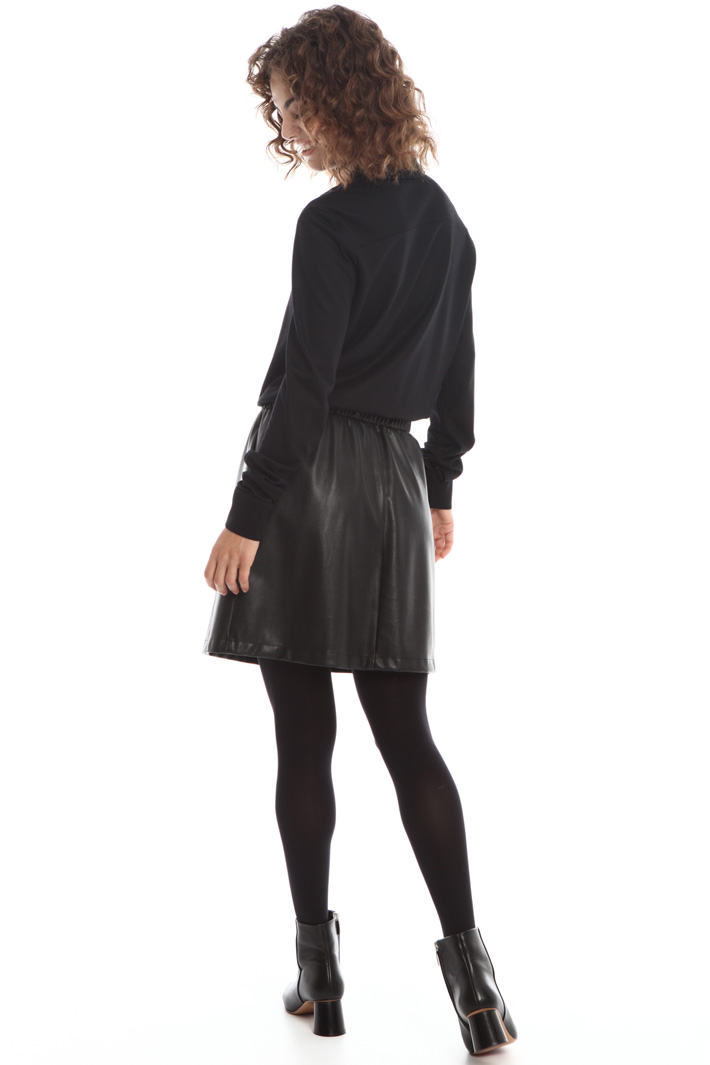 Dual material dress Intrend