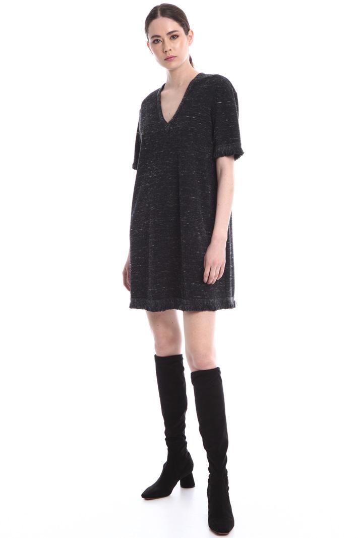 Tweed effect short dress Intrend