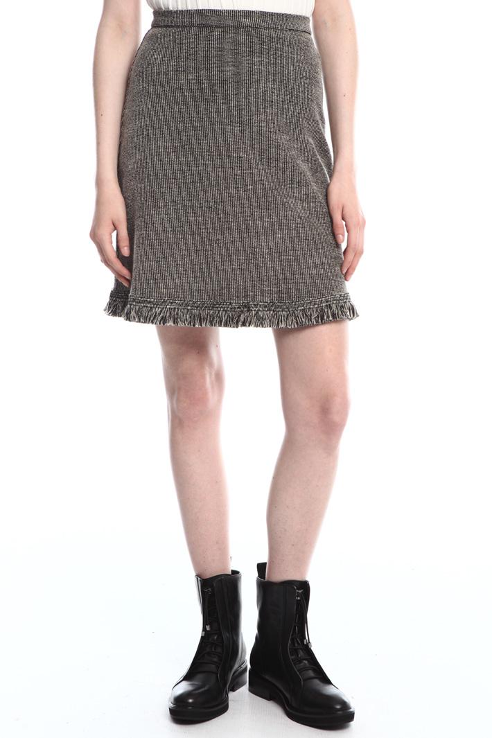 Raw edge mini skirt  Intrend
