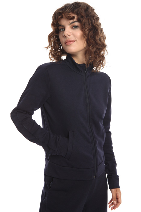 Zip-up high neck sweatshirt  Intrend