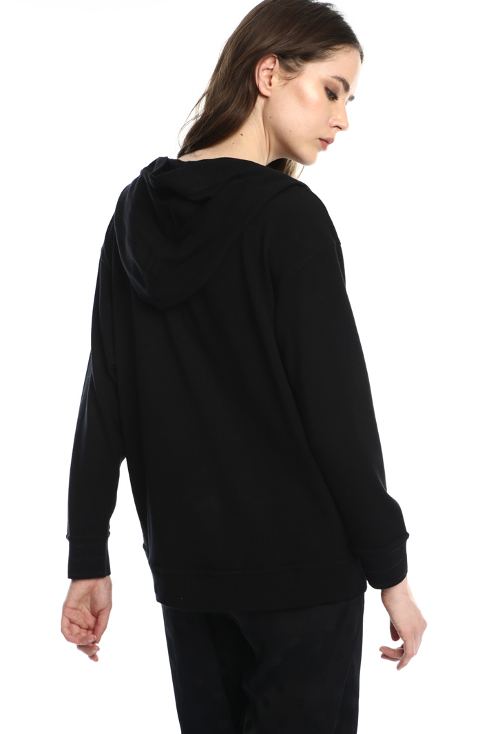 Hooded jersey sweatshirt Intrend