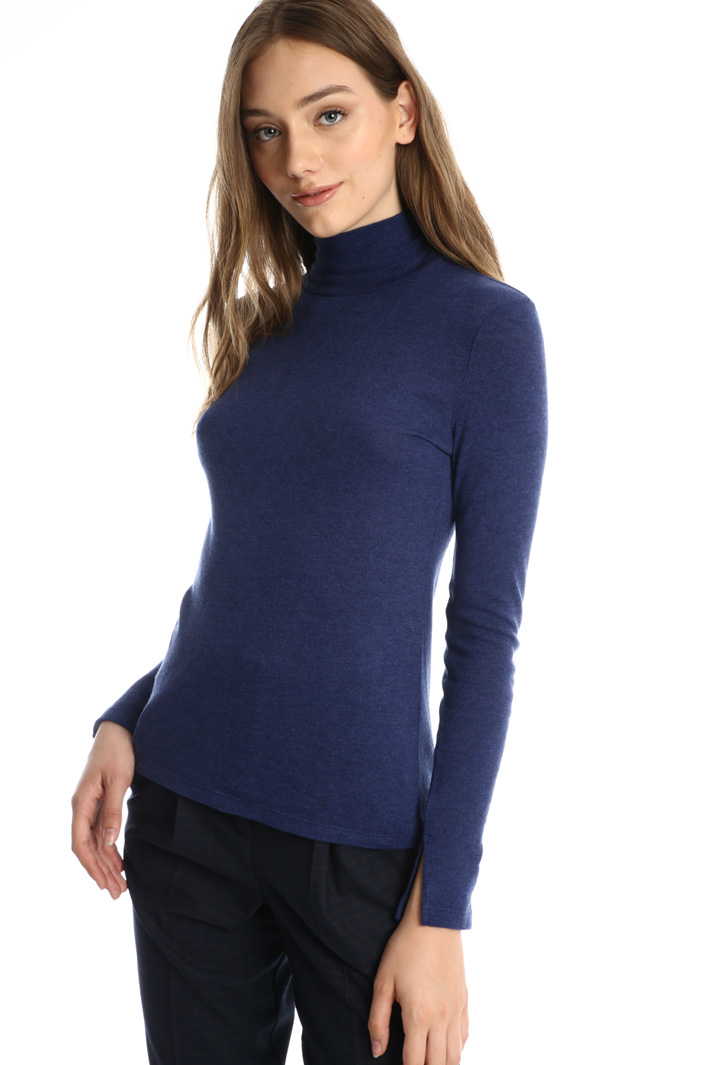 Wool blend top with bow-neck Intrend