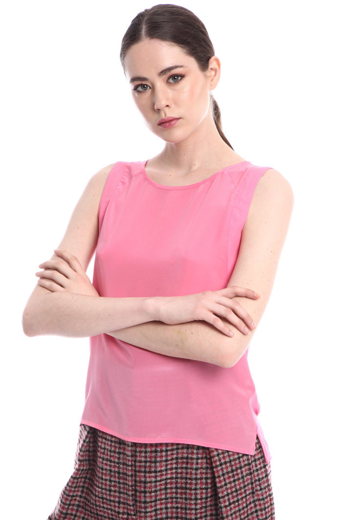 Jersey sleeveless top Intrend