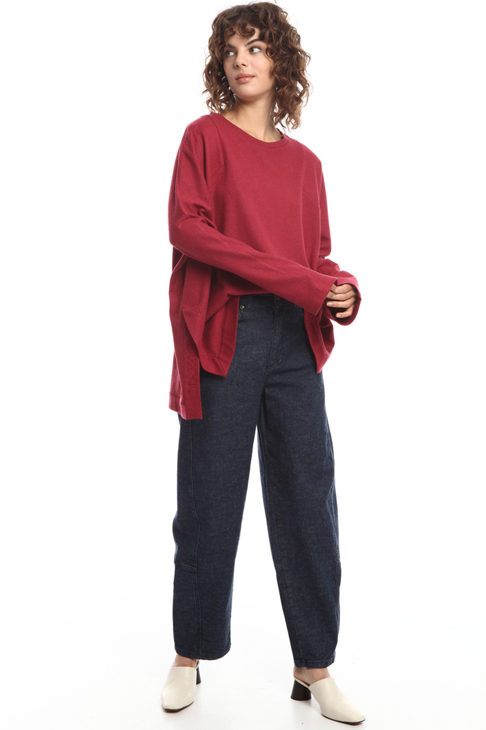 Oversized T-shirt with slits Intrend