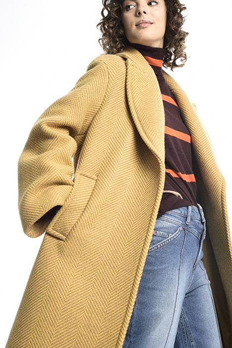 Cappotto di lana chevron Intrend